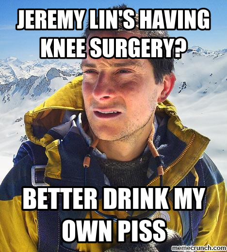 Jeremy Lin's having knee surgery?