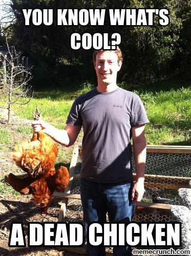 Dead Chicken Mark Zuckerberg