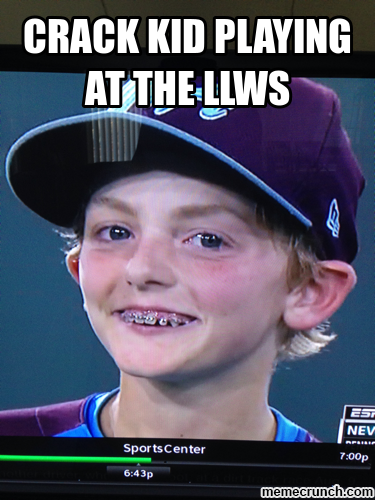 crack kid playing at the LLWS