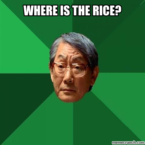 where is the rice?