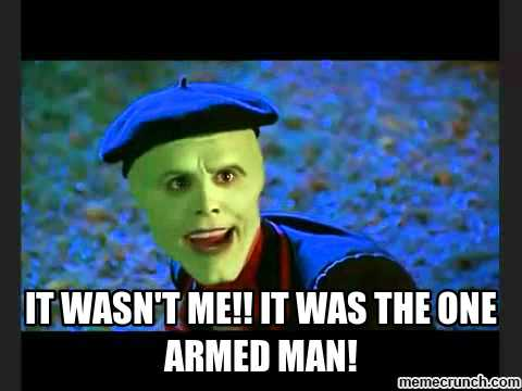 image the mask one armed man,The Mask Meme