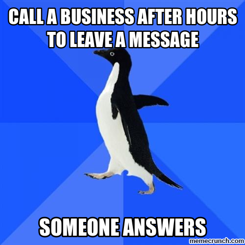 You mean I have to talk to people?