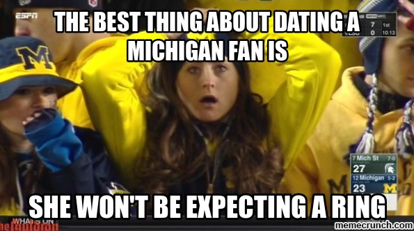 image best thing about dating a michigan fan is,Michigan Meme