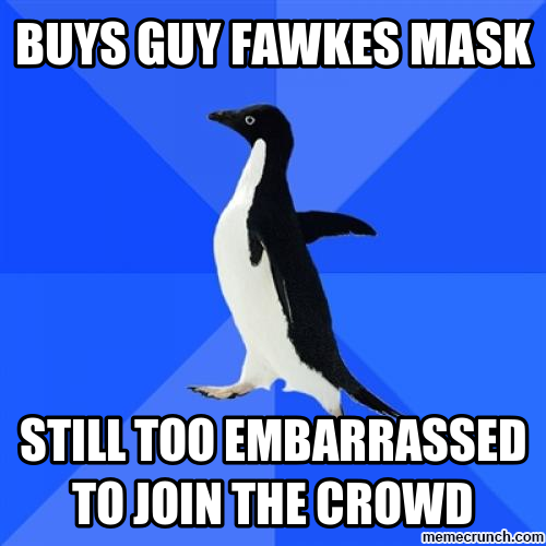 SAP with Guy Fawkes mask