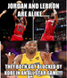 Michael Jordan Lebron James Comparision