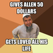 Gives Allen 50 dollars