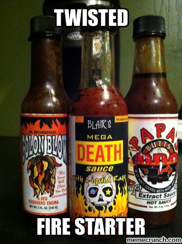 My hot sauce collection Jul 24 02:07 UTC 2013