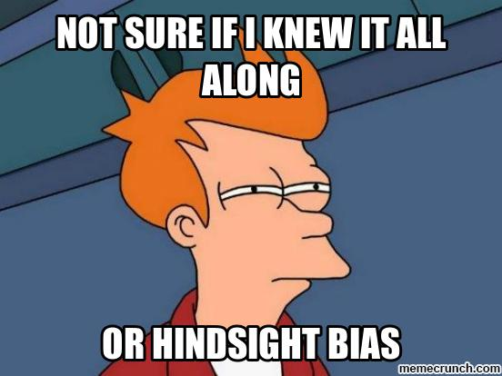 Image result for hindsight bias