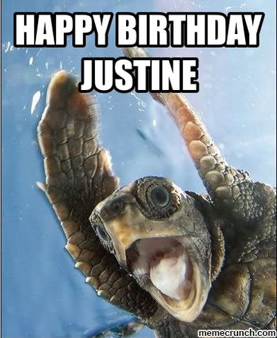 Happy Birthday Justine